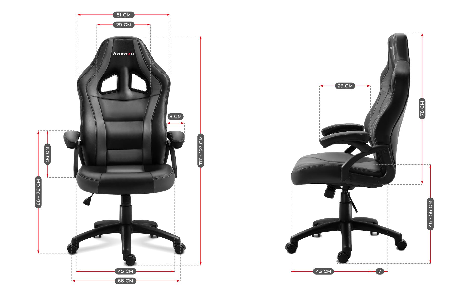 Размеры сиденья Huzaro Force 4.2 Grey