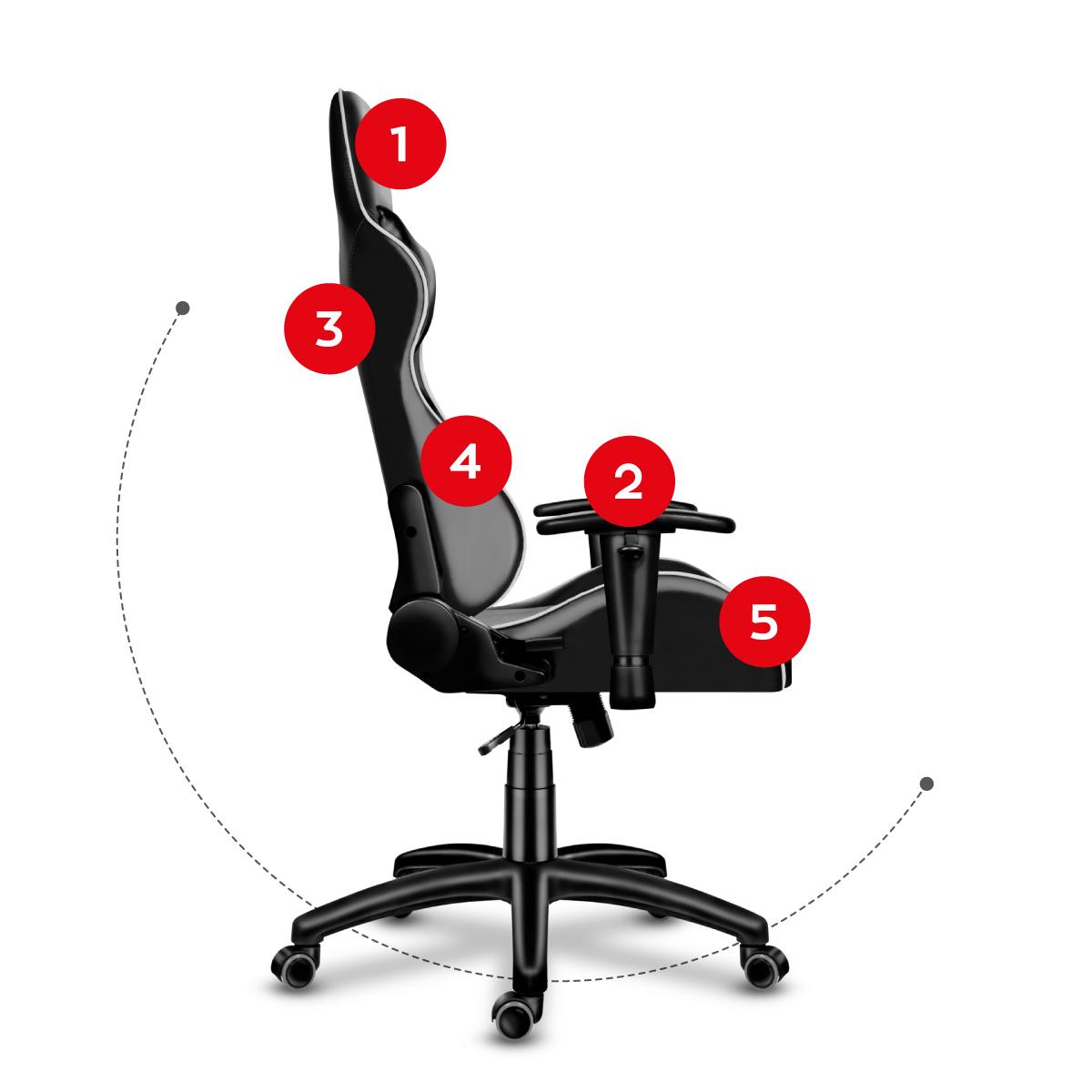 Права сторона сидіння Huzaro Force 6.0 Grey