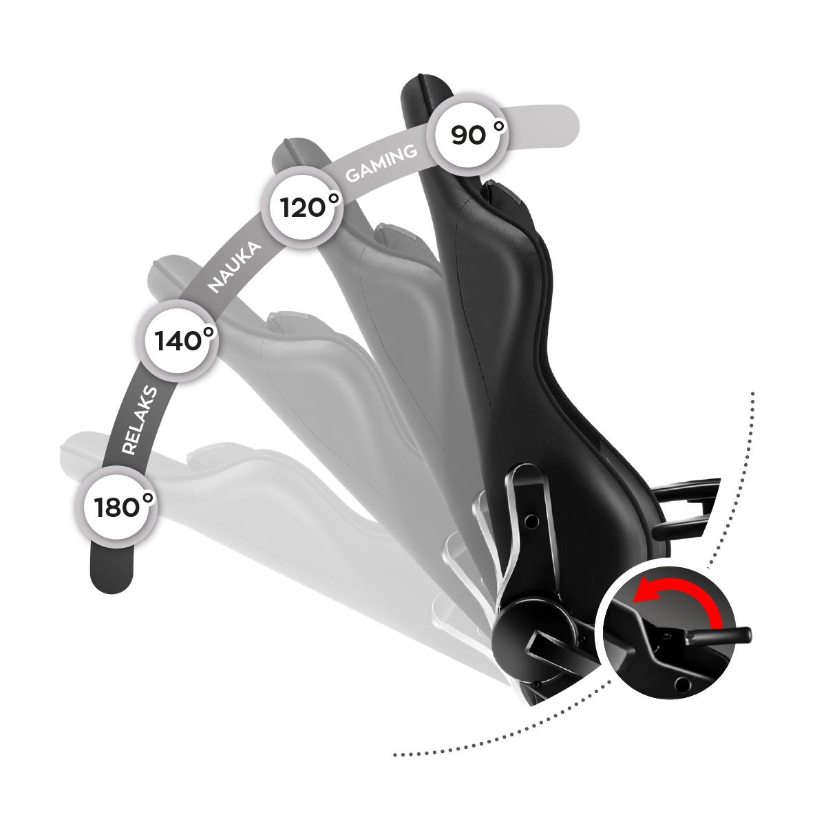 Mechanizm bujania w Huzaro Ranger 6.0 Black