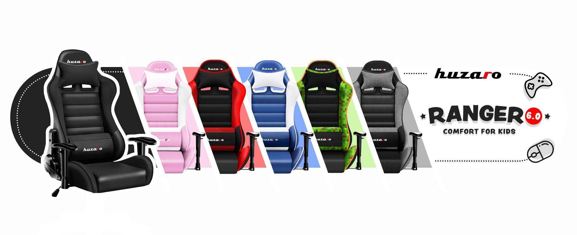 Dostępne kolory fotela Huzaro Ranger 6.0