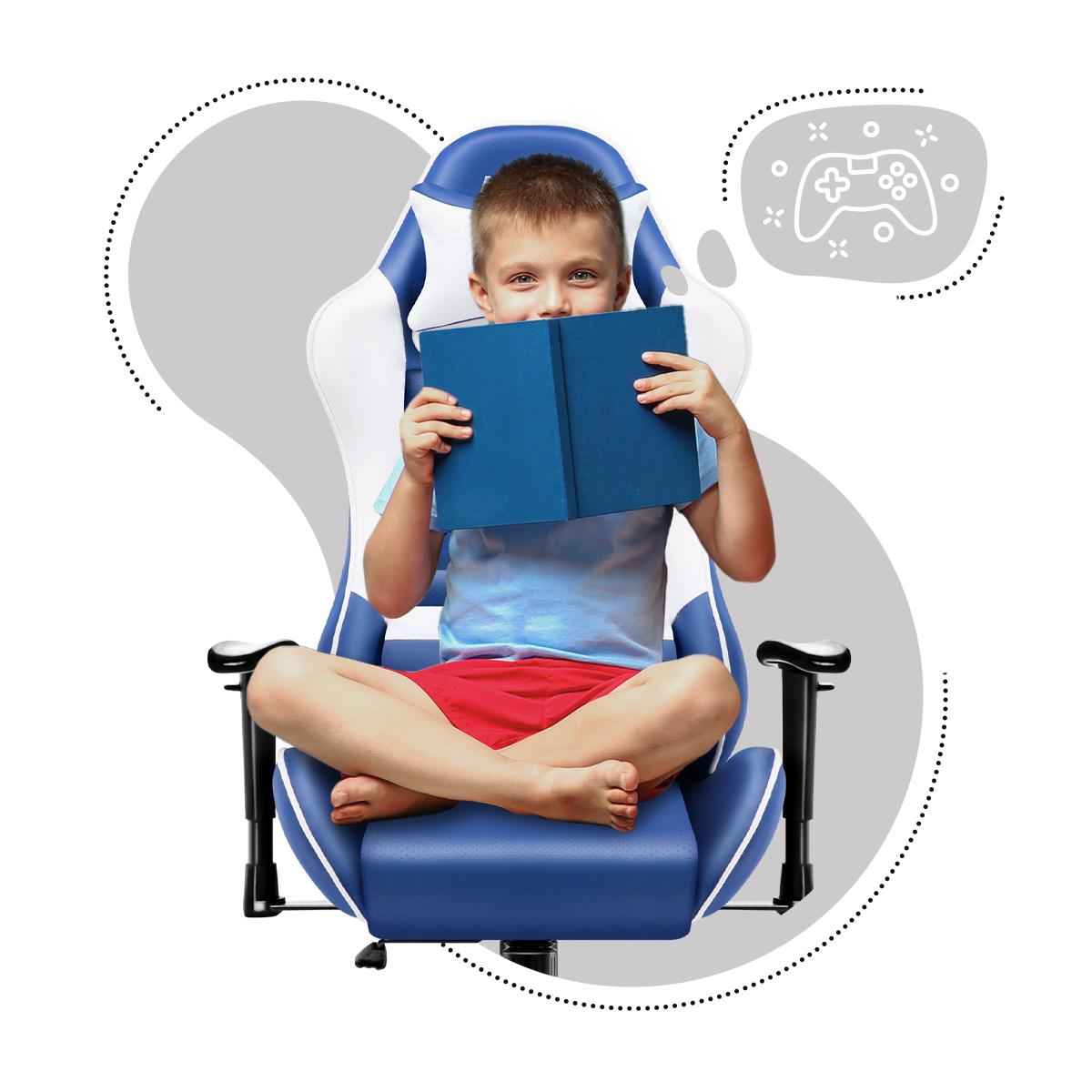 Ranger 6.0 Blue z dzieckiem trzymającym książkę