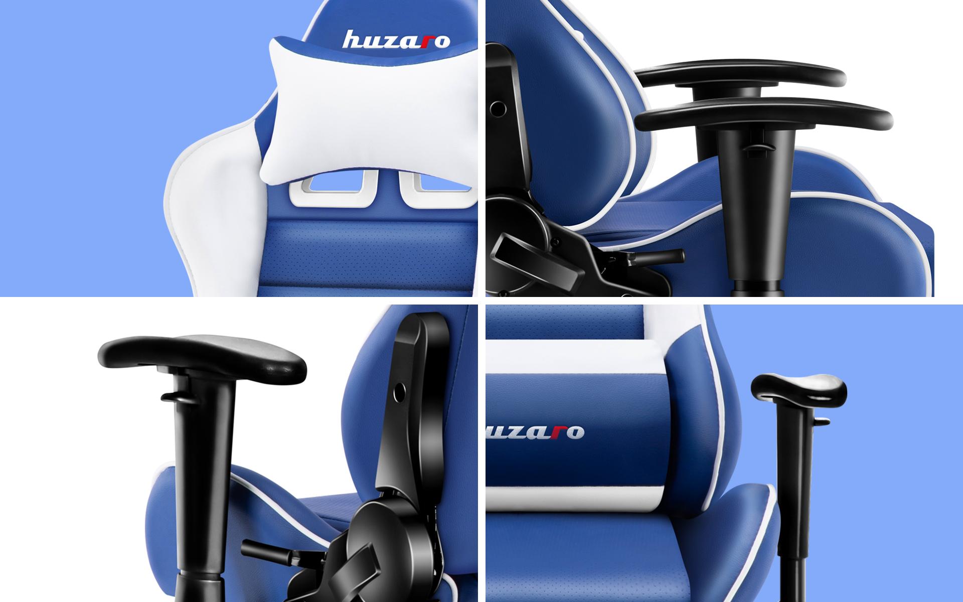 Zbliżenia fotela gamingowego Huzaro Ranger 6.0 Blue